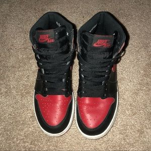 02e00ed730a5e1 Air Jordan Shoes - bred 1s gs 4.5y